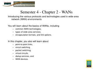 Semester 4 - Chapter 2 - WANs