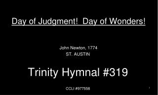 Day of Judgment!  Day of Wonders!