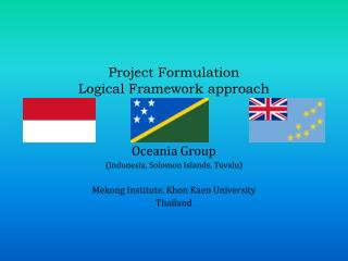 Project Formulation  Logical Framework approach