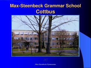 Max-Steenbeck Grammar School Cottbus