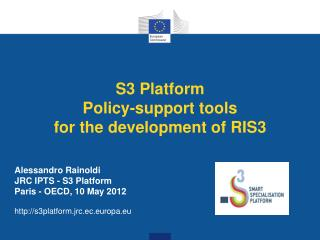 S3 Platform Policy-support tools for the development of RIS3