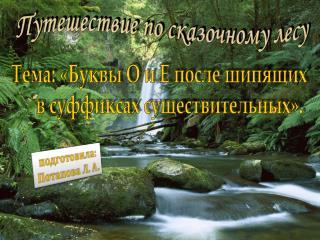 Путешествие по сказочному лесу