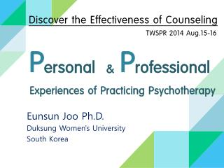 Experiences of Practicing Psychotherapy