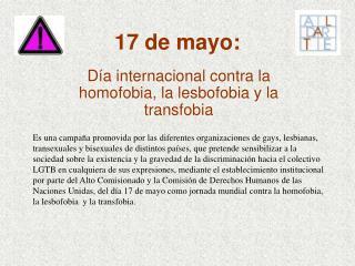 17 de mayo: