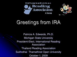Greetings from IRA