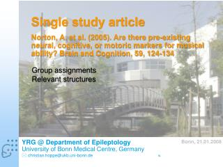 Single study article