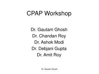 CPAP Workshop
