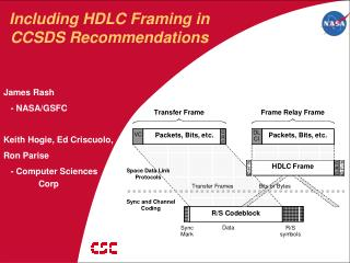 Including HDLC Framing in CCSDS Recommendations