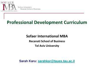 Professional Development Curriculum