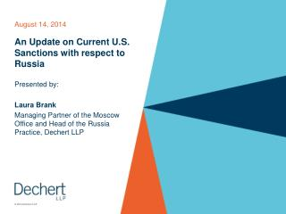 An Update on Current U.S. Sanctions with respect to Russia