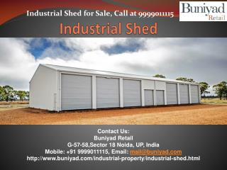Industrial Shed | Industrial Shed For Sale - Buniyad.com