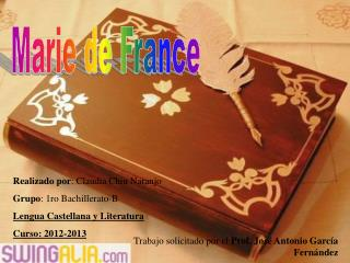 Realizado por : Claudia Chiu Naranjo Grupo : 1ro Bachillerato-B Lengua Castellana y Literatura