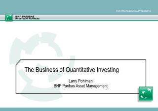 Larry Pohlman BNP Paribas Asset Management
