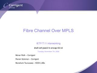 Fibre Channel Over MPLS