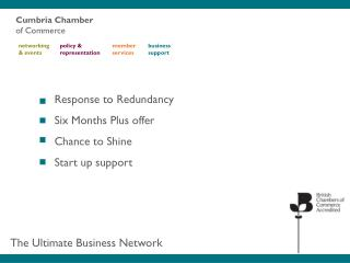 Response to Redundancy Six Months Plus offer Chance to Shine Start up support