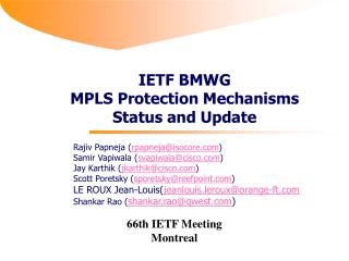 66th IETF Meeting Montreal