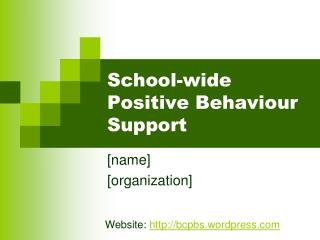 School-wide Positive Behaviour Support