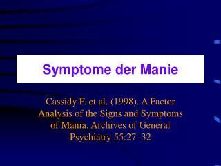 Symptome der Manie