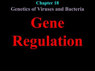 Chapter 18 Genetics of Viruses and Bacteria