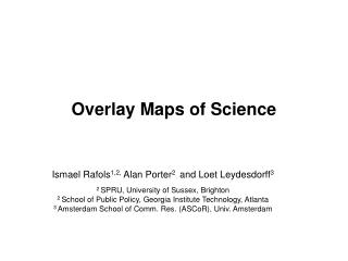 Overlay Maps of Science