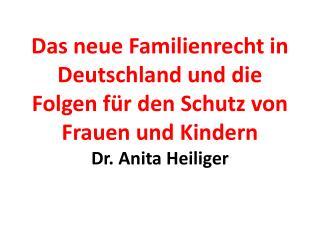 Im Vorfeld der Verabschiedung  des neuen Familienrechts: