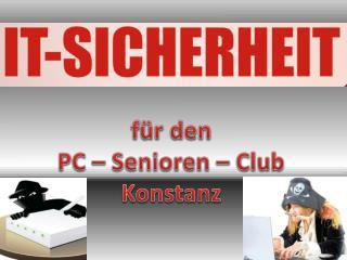 für den  PC – Senioren – Club Konstanz