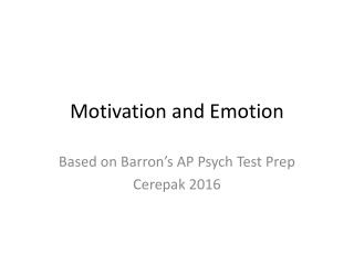 AP Psych Test