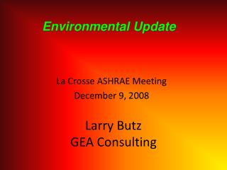 Larry Butz GEA Consulting