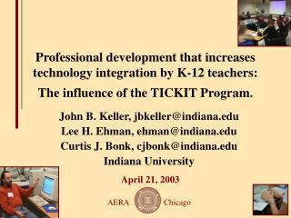 John B. Keller, jbkeller@indiana Lee H. Ehman, ehman@indiana