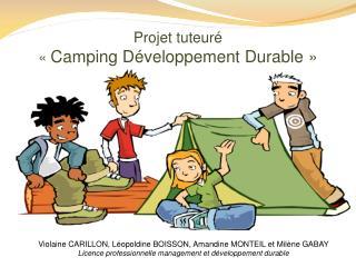 Projet tuteuré « Camping Développement Durable»
