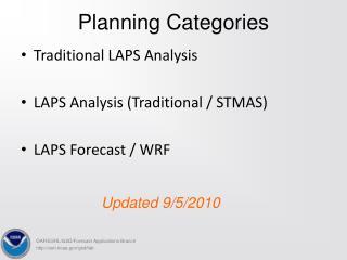 Planning Categories