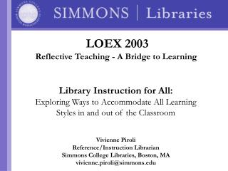 Library Instruction for All: