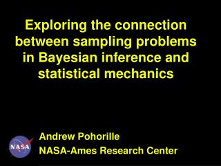 Exploring the connection between sampling problems in Bayesian inference and statistical mechanics