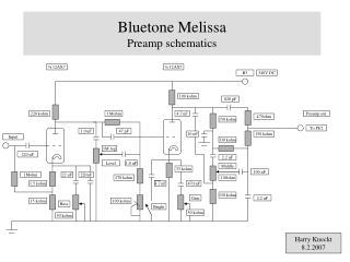 Bluetone Melissa  Preamp schematics