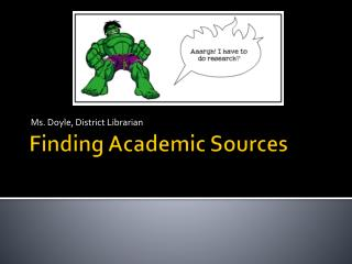 Finding Academic Sources