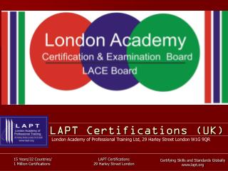 LAPT Certifications (UK)