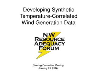 Developing Synthetic Temperature-Correlated Wind Generation Data