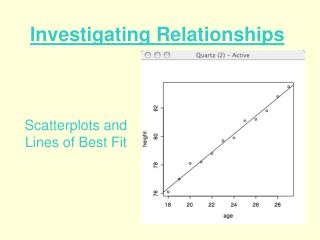 Investigating Relationships