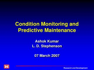 Condition Monitoring and Predictive Maintenance