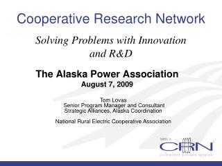 Cooperative Research Network: Solving Problems with ...