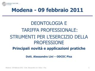 Modena - 09 febbraio 2011