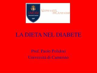 LA DIETA NEL DIABETE