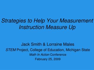 Strategies to Help Your Measurement Instruction Measure Up