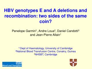 HBV genotypes E and A deletions and recombination: two sides of the same coin?