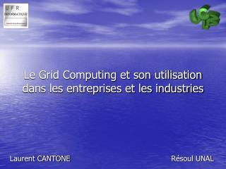 Le Grid Computing et son utilisation dans les entreprises et les industries