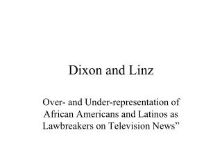 Dixon and Linz