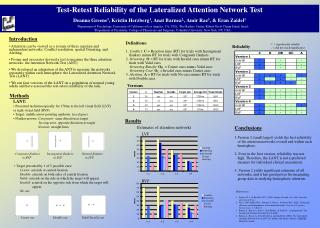 Test-Retest Reliability of the Lateralized Attention Network Test