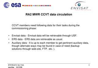 RA2 MWR CCVT data circulation