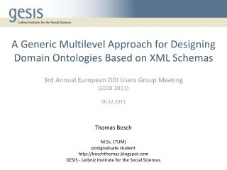 A Generic Multilevel Approach for Designing Domain Ontologies Based on XML Schemas
