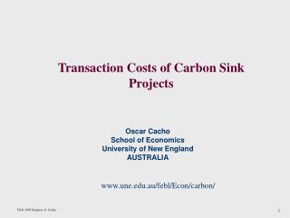 Transaction Costs of Carbon Sink Projects